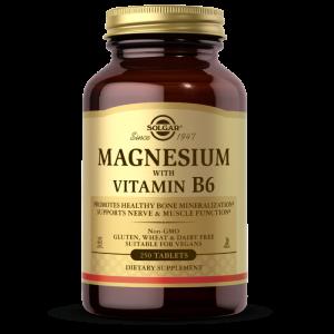 Магний, витамин В6, Magnesium Vitamin B6, Solgar, 250 таблеток