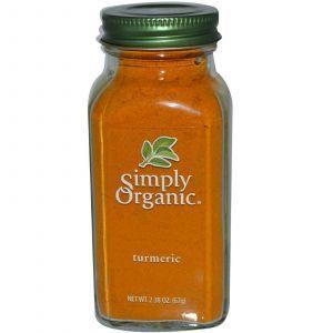Куркума, Turmeric, Simply Organic, 67 г