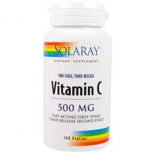 Витамин С, Vitamin C, Solaray, 500 мг, 100 капсул