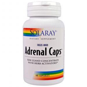 Здоровье надпочечников, Adrenal Caps, Solaray, 60 капс.