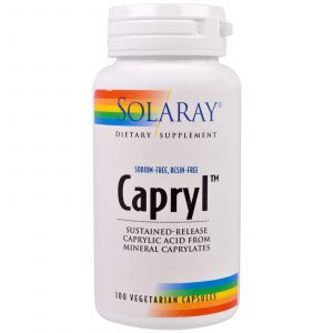 Каприловая кислота, Capryl, Solaray, 100 капс.