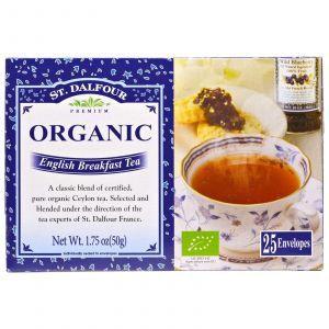 Органический английский чай для завтрака, English Breakfast Tea, St. Dalfour, 50 г