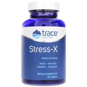 Стресс-X, защита от стресса, Stress-X, Trace Minerals Research, 60 таблеток