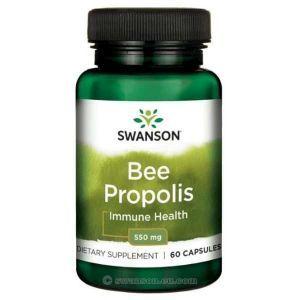 Прополис, Bee Propolis, Swanson, 550 мкг, 60 капсул