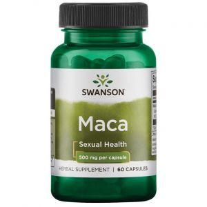 Мака, Maca, Swanson, 500 мг, 60 капсул