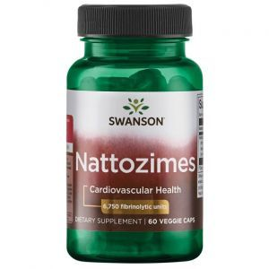 Наттокиназа, Nattozimes, Swanson, 195 мг, 60 вегетарианских капсул