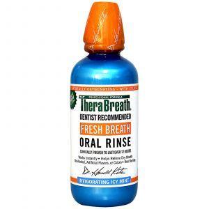 Ополаскиватель для рта с ароматом ледяной мяты, Oral Rinse, TheraBreath, 473 мл