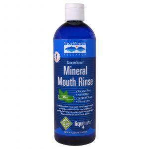 Ополаскиватель для полости рта,   Mineral Mouth Rinse, Trace Minerals Research, 473 мл