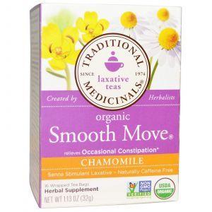 Слабительный чай, Traditional Medicinals, 16 пакетиков (32 г)
