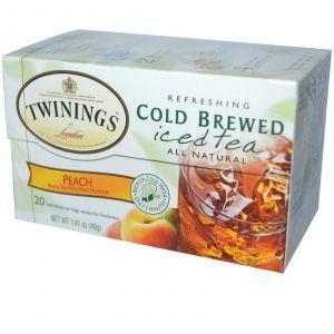 Чай черный с персиком (холодное заваривание), Twinings, 20 пак.(40 г.)