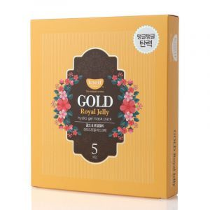 Гидрогелевая маска для лица с золотом, Gold & Royal Jelly Mask, KOELF, 5 шт. х 30 г