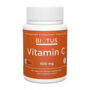 Витамин С, Vitamin C, Biotus, 500 мг, 60 капсул