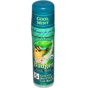 Бальзам для губ с какао маслом, охлаждающая мята, Badger Company, 7 г